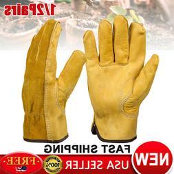 1/2Pair Heavy Duty Gardening Gloves Men Women Thorn Proof Le