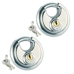 1/2x 70mm HEAVY DUTY Discus Padlock Stainless Steel Shed Gat