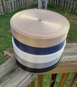 "1.5"" Heavy duty nylon webbing / 2 panel webbing / 5 yards"