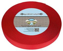 Country Brook Design® 1 Inch Bright Red Heavy Nylon Strap W