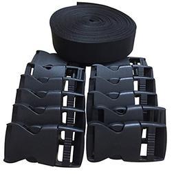 1 Inch Webbing Strap Buckles Nylon Straps Belt Strapping Cli