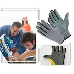 1 Pair Men Women Heavy Duty Gardening Gloves Thorn Proof Lea