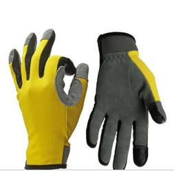 1 Pairs Heavy Duty Gardening Gloves Men Women Thorn Proof Le