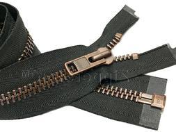 YKK #10 Antique Copper Finished - Extra Heavy Duty Zipper Se