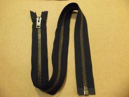#10 YKK Heavy Duty Antique Brass Separating / Jacket Zipper