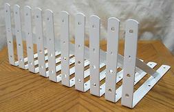 """10 Heavy Duty White Steel 12"""" x 8"""" Shelf Brackets! 500 L"""