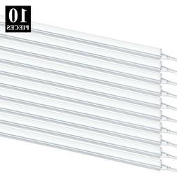 10 PACK T5 4FT Linkable LED Shop Light 6000K Daylight Fixtur