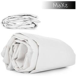 10' x 20' Canvas Tarp 3X6M White Cotton Tarpaulin Protect Ex