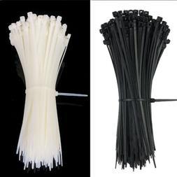 "100 pc 4'' 8"" 10"" 12"" 14"" 24"" Plastic Cable Zip Ties Heavy D"