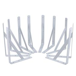 Steel Core 10pc Heavy Duty White Powder Coated Steel 12in x