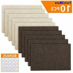 "10x Felt Furniture Pads 6""x4"" Heavy Duty 1/5"" Sheets H"