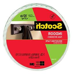 Scotch Indoor Mounting Tape, 0.75-inch x 350-inches, White,