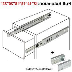 12-22in Full Extension Drawer Slides/Glides Ball Bearing Hea