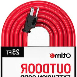 Otimo 25 ft 12/3 Outdoor Extra Heavy Duty Extension Cord - 3