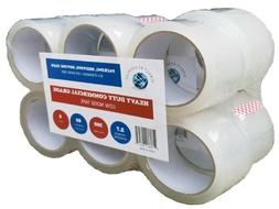 "12 Pack Low Noise Packing Tape Clear 180 ft  2"" wide 2.7mil,"
