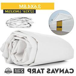 12'x16' White Poly Plastic Linoleum 3.6X4.8M Tarpaulin PE Wa