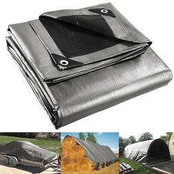 10x12ft Heavy Duty Reinforced Poly Tarp Canopy Tent Cover Wa