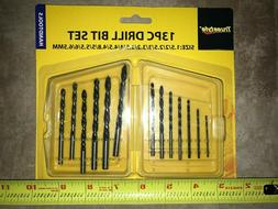 13 Piece Industrial Heavy Duty Drill Bit Set - home, work, c