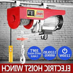 1320LBS ELECTRIC HOIST WINCH LIFTING ENGINE CRANE AUTOMOTIVE