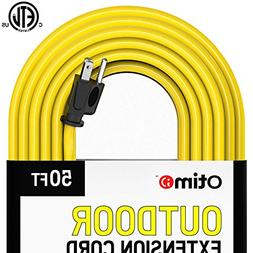 Otimo 50 Ft 14/3 Outdoor Heavy Duty Extension Cord - 3 Prong