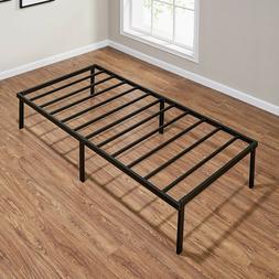 """Mainstays 14"""" Heavy Duty Slat Bed Frame, Black Steel, Queen"""