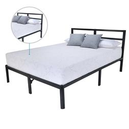 "EG EAGOLE 14"" Tall Heavy  Duty Metal Slat  Bed Frame Boxspri"