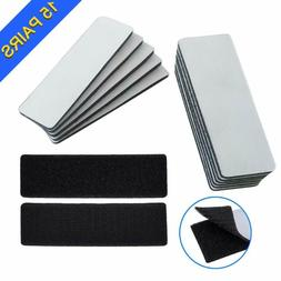 15 Pcs Heavy Duty Hook and Loop Tape Strips with Adhesive St