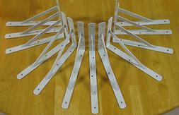 """16 Heavy Duty White Steel 12"""" x 8"""" Shelf Brackets! 500 L"""