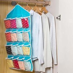 16-Pocket Over Door Hanging Bag Shoe Rack Hanger Storage Tid