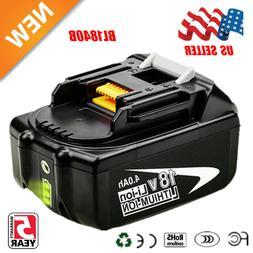 18V 4.0AH LXT Battery For Makita BL1840B BL1830 Lithium Ion