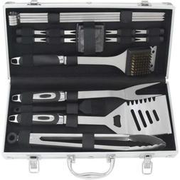 POLIGO 19PCS BBQ Grill Tool Set - Heavy Duty Stainless Steel