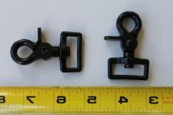 "2 1"" Trigger Snap Hooks Heavy Duty Black Resin Metal"
