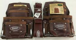 2 10 PKT Heavy Duty Oil Tanned Cherry Leather Tool Pouch Wit