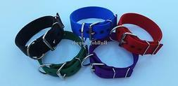 """2"""" 3-Ply Nylon Heavy Duty Dog Collar for Pit Bull & Large Br"""