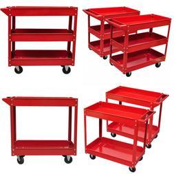 2/3 Tier Workshop Garage Utility Trolley Service Tool Cart w