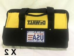 "DeWalt Heavy Duty Nylon Tool Bags 18"" X 12"" X 11""  Made In"