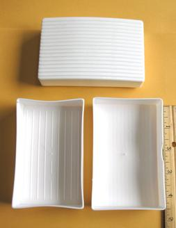 2 Heavy Duty Plastic Soap Dishes Case Holder Box Travel Hiki