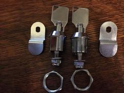 """2 HEAVY DUTY Tubular Cam Lock 5/8"""" for RV Camper Drawer Cabi"""