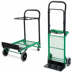 2-in-1 Convertible Platform Hand Truck Garden Dolly Cart Fol