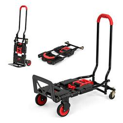 2 in 1 Folding Hand Truck Dolly Cart Multi-Position Heavy Du
