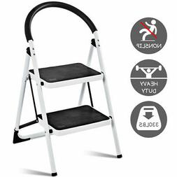2 Step Ladder Lightweight Folding Stool Heavy Duty Industria