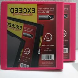 2 Pack EXCEED 1.5 Inch Heavy Duty Binder One Touch D-Rings H
