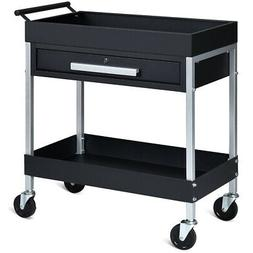 2 Shelf Tool Cart Utility Cart Service Cart Heavy Duty with