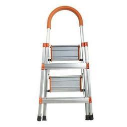 2 Step Ladder Heavy Duty Folding Stepladder Platform Stool N