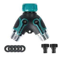 2 Way Heavy Duty Hose Splitter For Garden Water Tap Converte