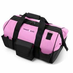 "Pink Power 20"" Tool Bag for Women with 28 Storage Pockets"