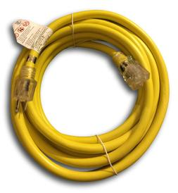 20-Ft Extension Cord 10 Gauge Lit End AWG Heavy Duty UL NEW