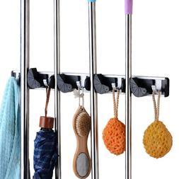 """20"""" Mop Broom Holder Heavy Duty Hook Wall Hanger For Lanudry"""