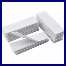 20 PC Adhesive Back Strips Pads WHITE Double Sided Sticky Ta