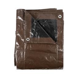 20'x20' Brown/Black Reversible Heavy Duty 8-9 Mil Waterproof